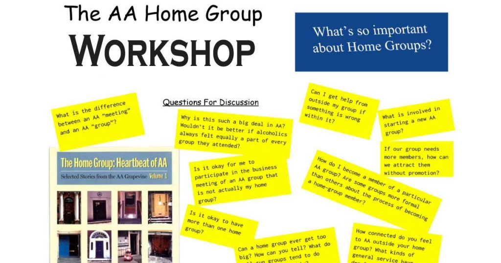 AA Homegroup Workshop