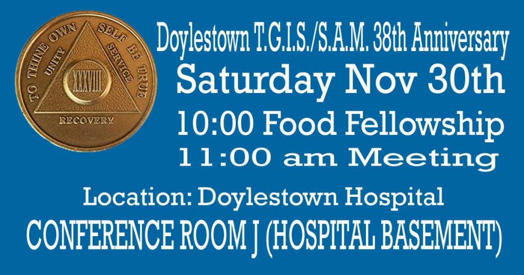 Doylestown TGIS Group 38th Anniversary