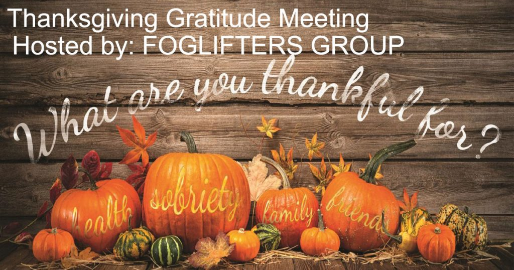 Thanksgiving Gratitude Meeting