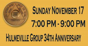 Hulmeville Group 34th Anniversary