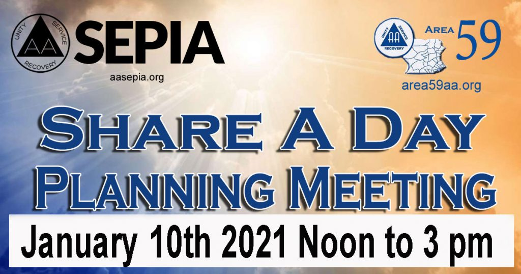 AA Share A Day Planing Meeting