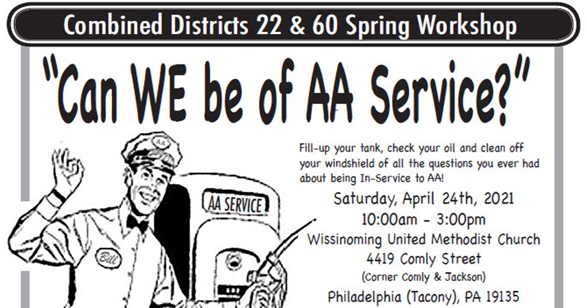 Can We Be Of AA Service